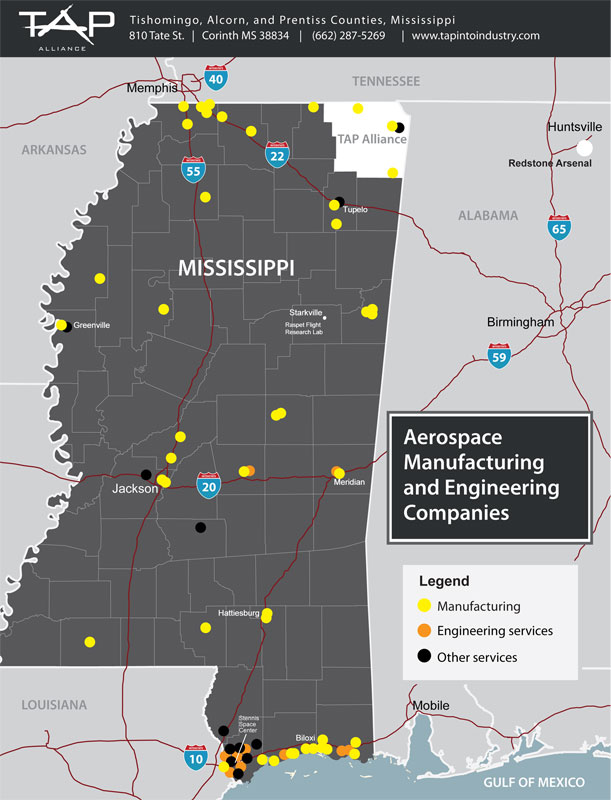 aerospace and aviation manufacturing industry mississippi